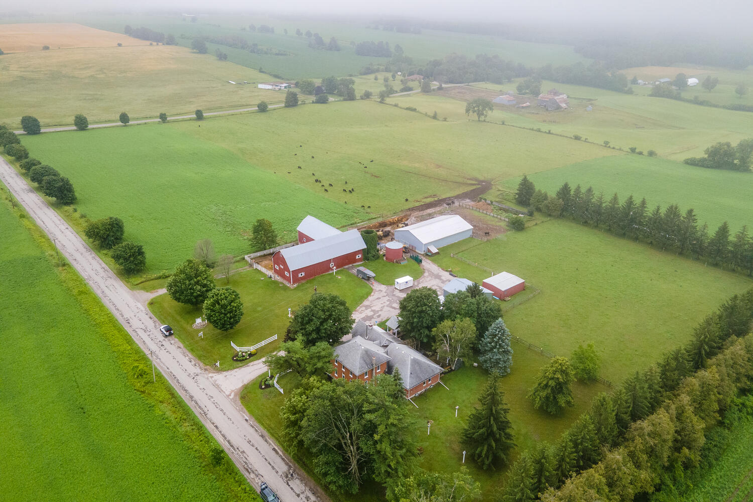 97 acre farm with 4000 sq ft 5+3 bedroom updated home and 4 outbuildings