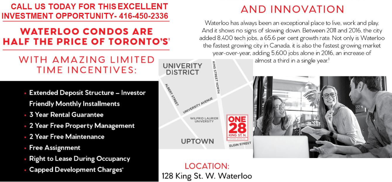 Get VIP Preconstruction Price Waterloo Condos